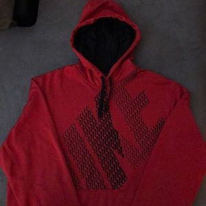 Men's Nike Therma-Fit Red and Black Hoodie - XL